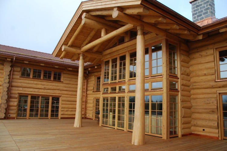 construction rondins real canadian cedar homes st johann in tirol. Black Bedroom Furniture Sets. Home Design Ideas